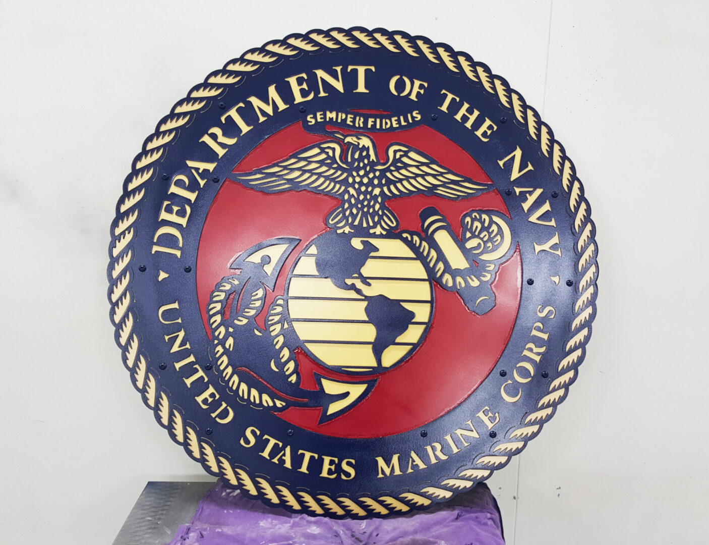 "24"" Multi-Layer Sign Honoring the United States Marine Corp."